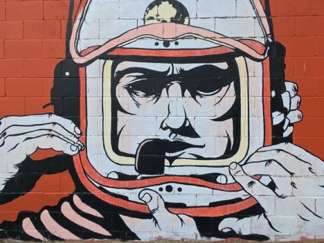 S.P.A.C.E. Gallery's Spaceman Mural by Adam DeVarney