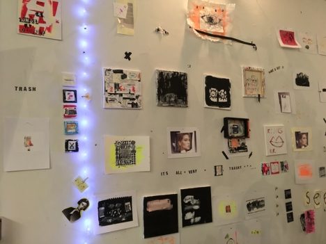 Wall of Works by Leah Dinkin, photo Rachel Jones