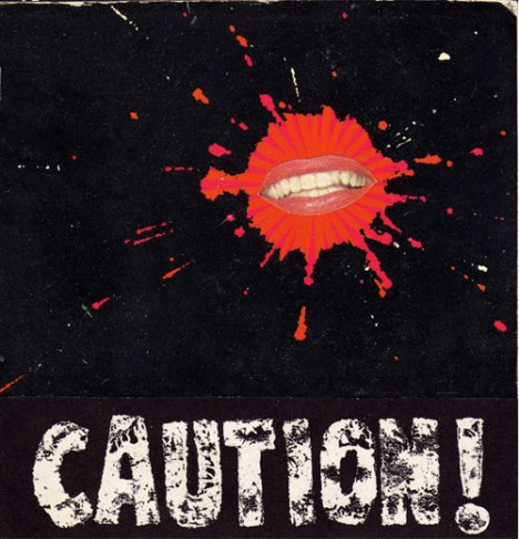Caution!, collage work by Benjamin Peberdy