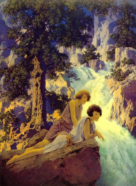 Waterfall by Maxfield Parrish, shown during the first NVAA Member exhibition in 1931