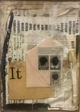 Ashley Roark, 'First Day of School', mixed media collage with resin