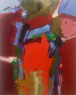Blake Larson, 'Study in Red', acrylic on canvas, hardboard