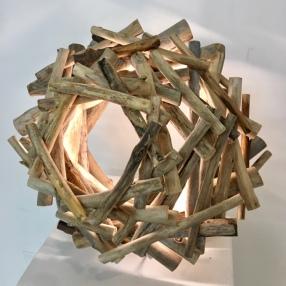 Clay Mohrman, 'Farr', found wood, LED lighting