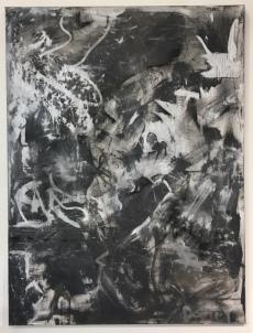Danny LeFrancois, Causing Trouble, acrylic, chalk on canvas