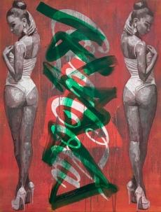 Eric Eickmann, 'Bottle', acrylic, urethane on canvas