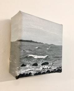 Jackie Bishop, 'Waves- York Beach, ME', acrylic on canvas
