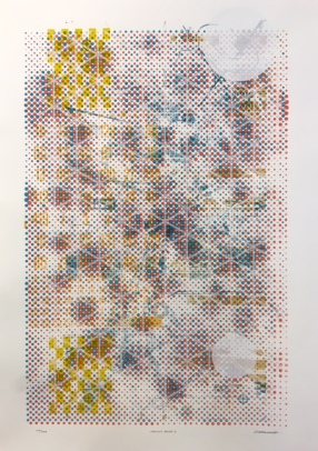 Scott André Campbell, Verlicht Monoprint Series I, 7 color serigraph on hahnemühle copperplate