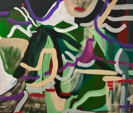 Wylie Garcia, 'Cherry Chapstick', acrylic on canvas