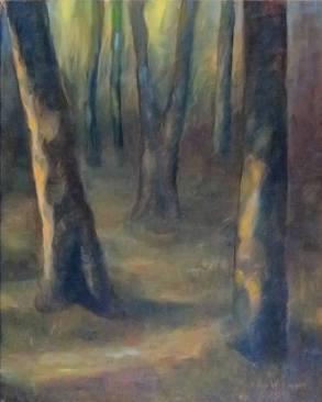 'Entering In', oil by Marian Willmott