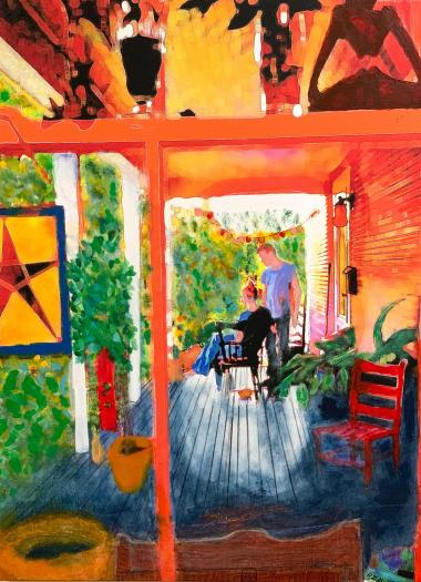 'Middlebury Neighbors', mixed media by Robert Gold