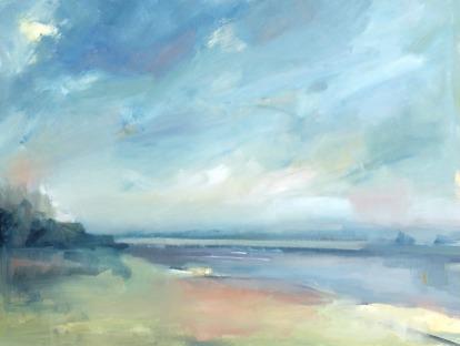 Provincetown Bay, oil by Julie A. Davis