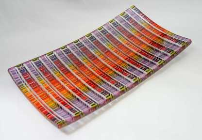 Tapestry Sushi Plate, glass by Gabriele Baumann