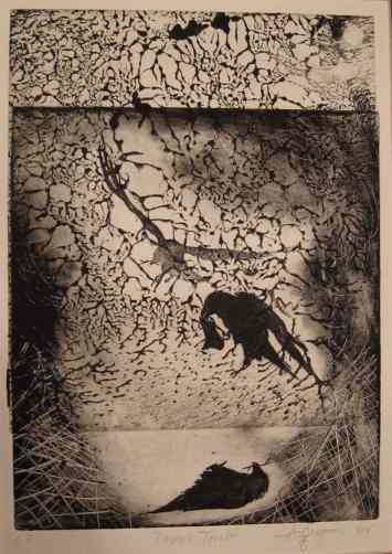 'Untitled', etching by Anne Gregson Rendino