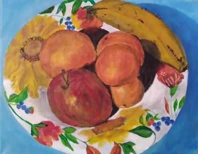 Candace Slack, Fruit Bowl, acrylic