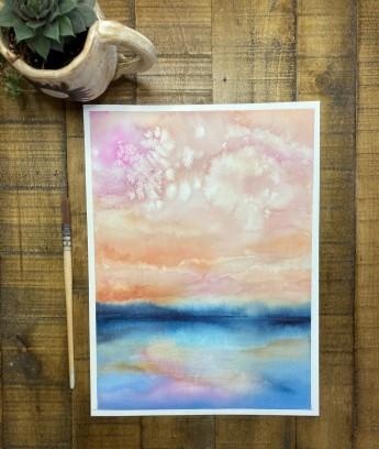 Deana Allgaier, Peace on the Horizon, watercolor