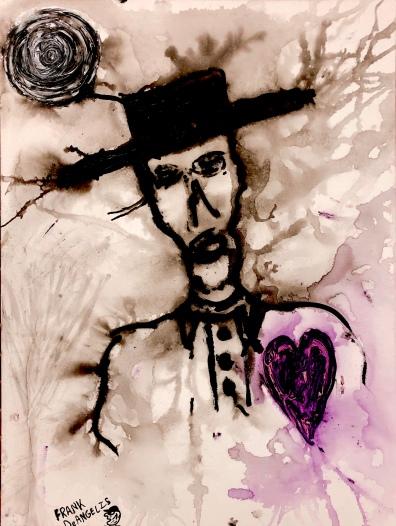 Franky DeAngelis COWBOY ROMANTIC Acrylic & Ink
