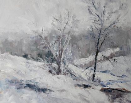Janet Bonneau, January Storm, oil