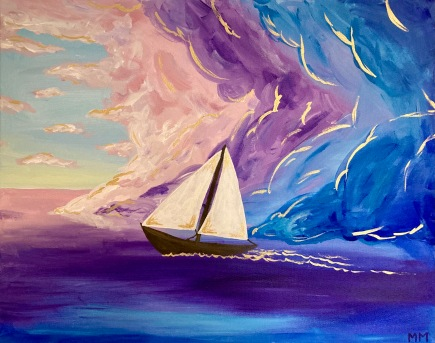 Mikayla Messier, Dream Voyage, Acrylic on Canvas