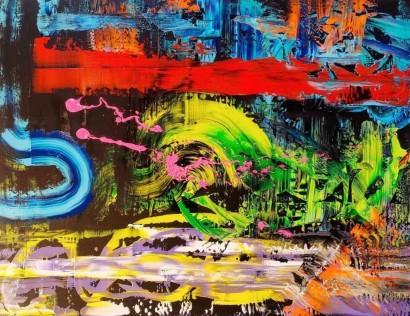 Stephen Sharon, Untitled, acrylic on canvas